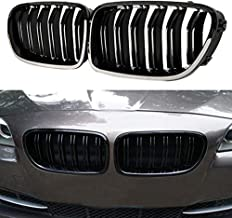 JMY Front Replacement Kidney Grille Grill for BMW 2010-2016 F10 5 Series 520i 523i 525i 528i 530i 535i 550i (Gloss Black, ABS)