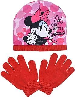 Official Disney Filles Minnie Mouse Hiver Chaud Chapeau /& Gants Set Taille Unique