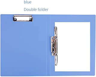 Fold Over Clipboards - Black (Pack of 3) Fold-Over Clipboard with Front Pocket (Color : Blue)