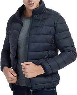 aliveGOT Men Packable Down Quilted Puffer Jacket Lightweight Puffer Coat
