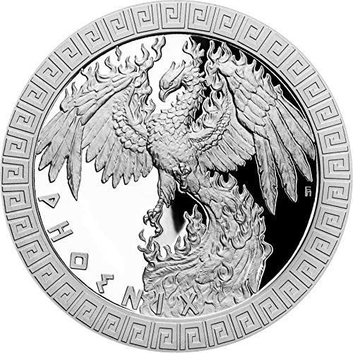 2020 NU Mythicalcreatures2020 PowerCoin Phoenix Mythical Creatures 1 Oz Silver Coin 2$ Niue 2020 Proof