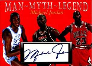 Michael Jordan Man Myth Legend fasc auto 1/1000 North Carolina Team USA Chicago Bulls