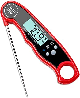 Instant Read Digital Food Thermometer with Bright Backlight LCD Screen, Kitchen Smart Waterproof Cooking Meat Thermometer ...