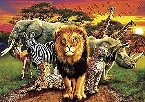 ymwenj Gioco di Puzzle 1000 PezziAmazing Nature Collection Tangram Africano 75x50cm Adulti Bambini Creativo Gioco Regalo Decorazione decompressione