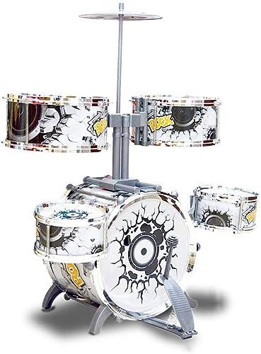 LINGLING-Trommel Trommel Jazz Instrument Junge mädchen Schlag Trommel Frühe Bildung P gogisches Spielzeug Silber (Farbe   Silber)