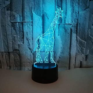 Especial 3D Light Giraffe 3D Night Light Touch Control Remoto Regalo Creativo Regalo De Cumpleaños Lámpara De Mesa 3Dlámpara De Cabecera Led