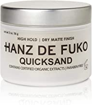 Hanz de Fuko Quicksand: Premium Men's Hair Styling Wax and Dry Shampoo Combo with Ultra-Matte Finish (2oz)