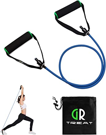 (Blue - 10LB) - GUARD & REVIVAL TREAT Resistance Exercise Tube, Resistance Band with Handles,Exercise Cords for Resistance Training, Physical Therapy, Home Workouts, Boxing Training,Sold Individual