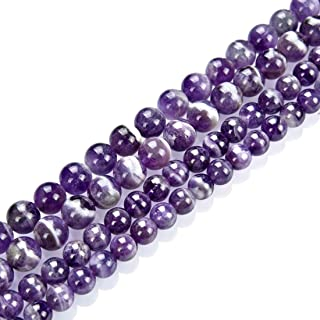 Free shipping-Genuine *8MM MATTE AMETHYST Crystal Beaded Bracelet-Ready to Ship Silver tone Bead-Chakra Jewelry-Intention