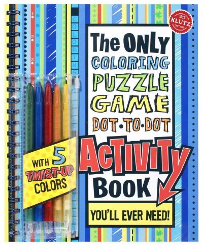 (The Only Coloring, Puzzle, Game, Dot-To-Dot Activity Book: You'll Ever Need! [With Pens/Pencils]) By The Editors of Klutz (Author) spiral_bound on (03 , 2002)
