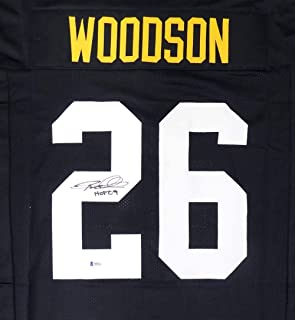 Pittsburgh Steelers Rod Woodson Autographed Black Jersey