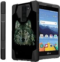 Untouchble Case for LG K8V black Case  K8 V Case (Verizon)[Traveler Series] Shell Defender with Built in Kickstand, Two Piece Hybrid Case - Green Wolf