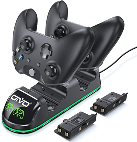 OIVO Controller Charger Compatible with Xbox One Controller, Dual Charging Station with Updated LED Strap, Remote Cha...