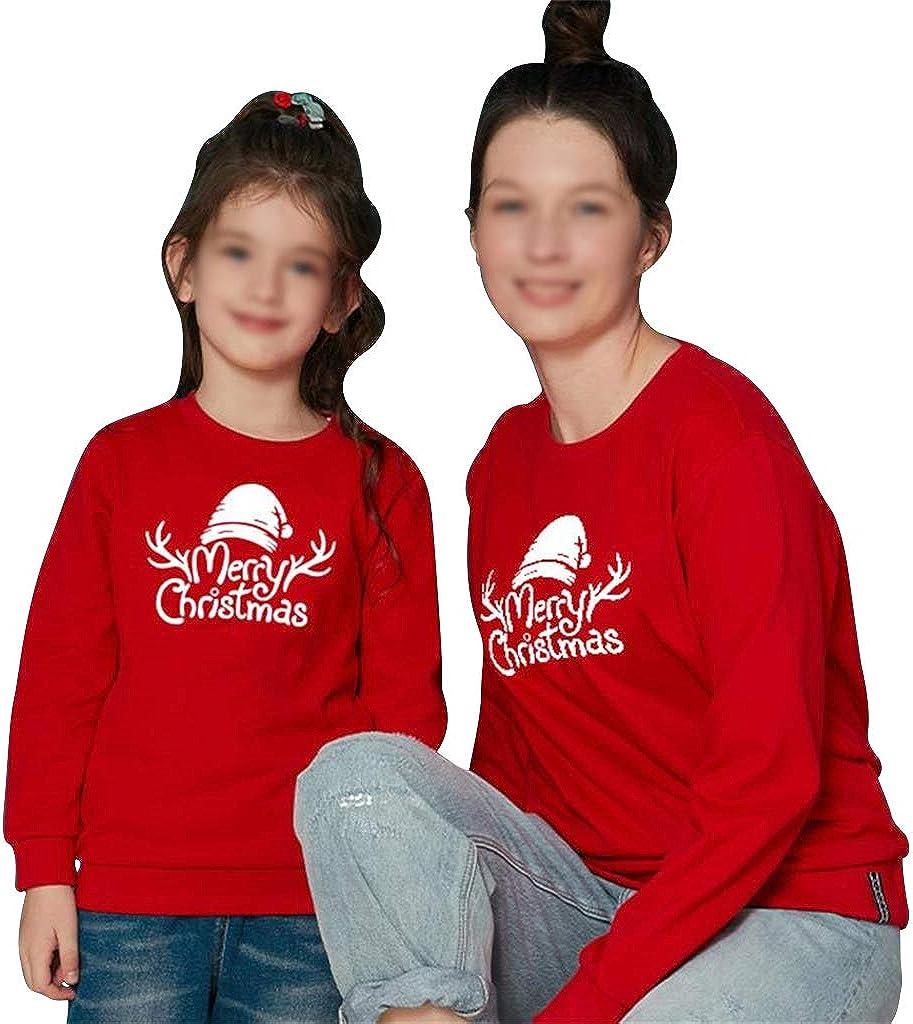 Weihnachtspullover Familie Set Motiv Rentier Weihnachten Pullover Unisex Langarmshirt Sweatshirt Christmas Weihnachtspulli Shirts Oberteil Bluse Tops f/ür Damen Herren Kinder Baby