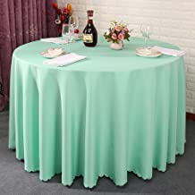 Thick Solid Color Table Cloth Washable, Heat-resistant Table Mat Cover For Hotel Wedding Meeting Party Restaurant, Washable-tiffany Style Blue Rectangular120*160cm(47x63inch)
