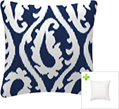 FBTS Prime Outdoor Decorative Pillows with Insert Navy Patio Accent Pillows Throw Covers 18x18 Inches Square Patio Cushion...