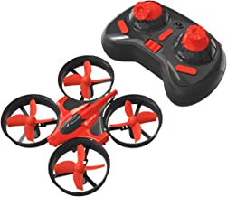 Mini Drones for Beginners, EACHINE E010 2.4GHz 6-Axis Gyro Remote Control Best Quadcopter Nano Drone for Adults Beginners - Headless Mode, 3D Flip, One Key Return (Red)