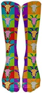 Hunter qiang, Los elegantes calcetines largos de la cabeza de cabra para hombres y mujeres atléticos calcetines largos: 50 cm.