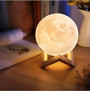 Dokunmatik Renk Değişen Şarjlı Dekoratif Ay Lamba