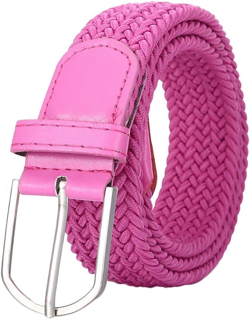 Freedi Braided Belt Elastic for Kids Teens Dress Clothes Chain Vintage Fashion Waist Belts (Rose)