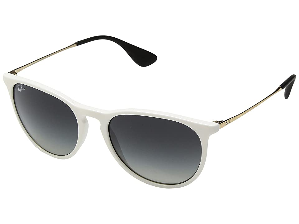 Ray-Ban Erika RB4171 54mm (White/Grey Gradient) Fashion Sunglasses