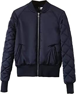 2001225a922 Escalier Womens Quilted Jacket Classic Short Bomber Jackets Padded Coat