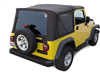 Sierra Offroad TJ 2003-06 Factory Style Soft Top with Tinted Windows in Black Diamond. (except Unlimited)