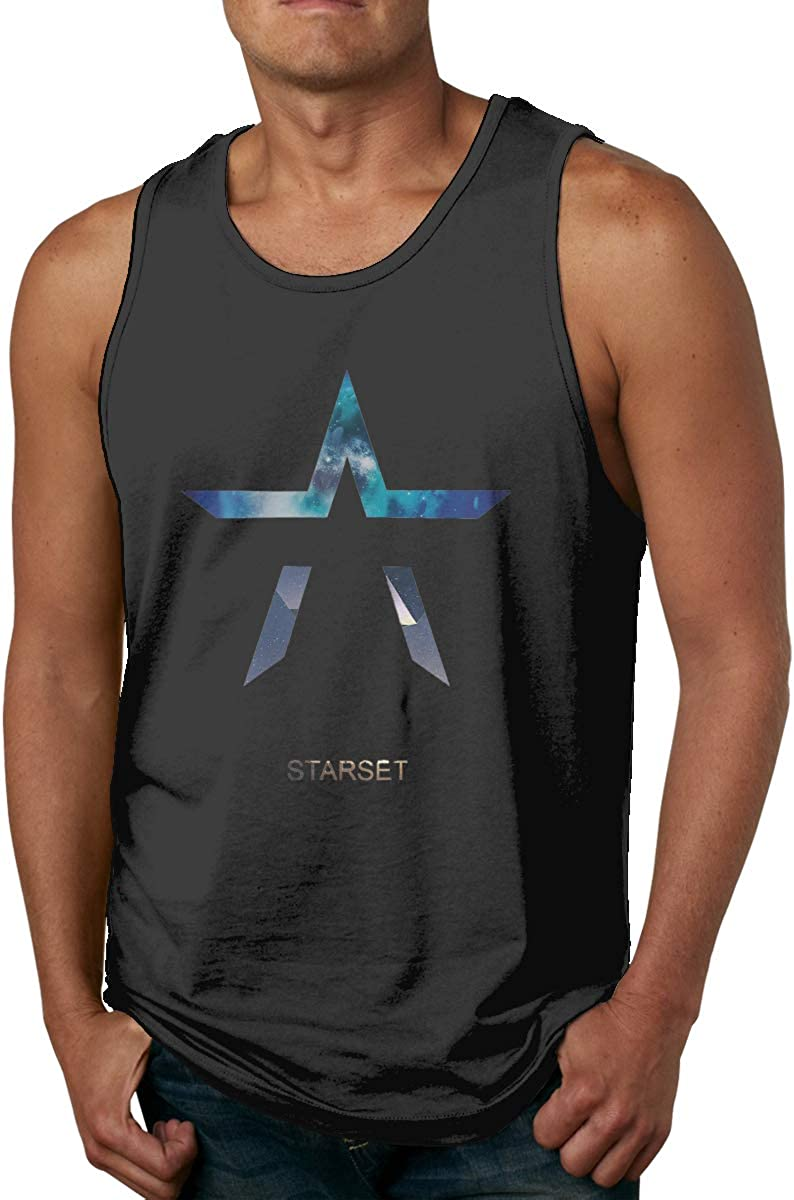 Pure Cotton Fashion and Comfortable 3D Printing Sleeveless Vest Starset T-Shirt