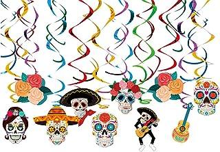Un día de los muertos colgante Swirld decoración de fiesta suministros