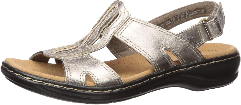 CLARKS damen Leisa Skip Leather Wedge Sport Sandals