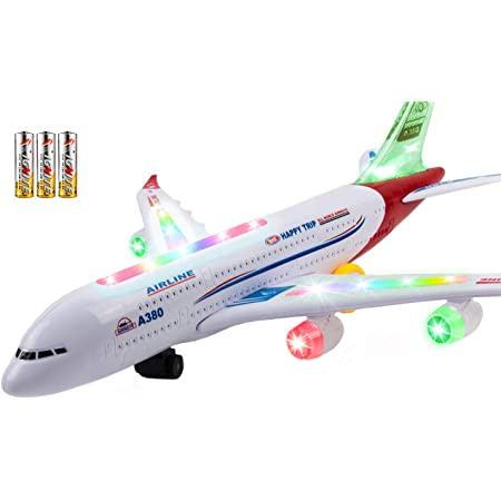 Toopeek Boys Heat Insulation Curtain Aircrafts with Cartoon Style Jet Airliner Zeppelin Regular Plane and Hot Air Balloon for Living Room or Bedroom W42 x L63 Inch Multicolor