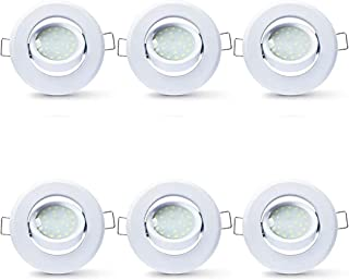 LAMPAOUS LED D50 5 W bombilla empotrada luz empotrable foco light 400 lm orientable foco empotrable blanco natural 4000k e...