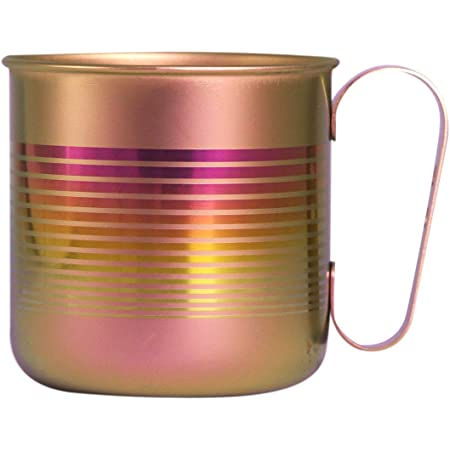 ホリエ チタンデザインマグカップ ボーダー&星 ボーダーS(ピンク) TMA-201C