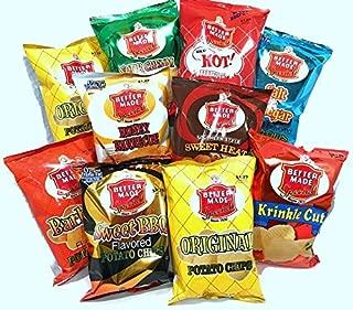 Better Made Potato Chips Detroit, 10 Bag Variety Pack, 2oz