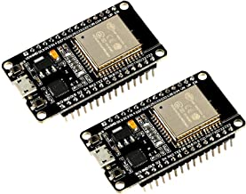 MELIFE 2 Pack ESP32 ESP-32S Development Board 2.4GHz Dual-Mode WiFi + Bluetooth Dual Cores Microcontroller Processor Integrated with ESP32s Antenna RF AMP Filter AP STA for Arduino IDE