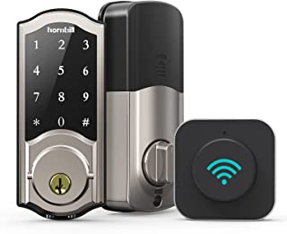 Smart Deadbolt Locks with Gateway - Keyless Entry Digital Front Door Lock with Keypad, Wi-Fi Electronic Bluetooth Auto Loc...