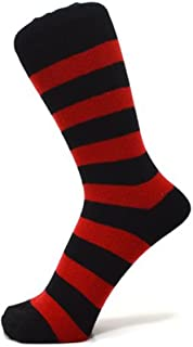 deaff90088bfa Socquettes mini chaussettes à rayures épaisses noires et rouges (Taille:  36-40)