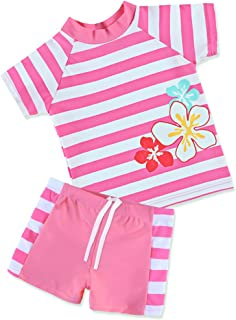 TFJH Little Girls' Swimsuit (Tag Size 92/98) UPF 50+ UV HotPink 2-3Years(Tag No.92/98) Hotpink