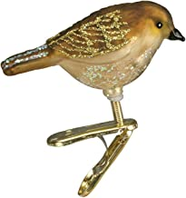 Old World Christmas Glass Blown Clip-On Ornament with Gift Box, Assorted Birds Collection (Miniature Songbird [Wren])
