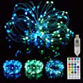 GaGasoul Fairy Lights for Bedroom, 16 Colors Fairy String Lights USB Powered Waterproof Twinkle Lights with 6 Lighting Modes for Wedding Christmas Decorations ?16.4Ft 50 LEDs?