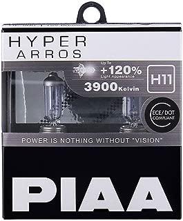 PIAA Hyper Arros H11 Car Replacement Headlights Bulbs +120% (Twin Pack) HE906
