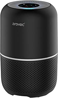 Arovec™ Smart Compact Air Purifier for Home Large Room with True HEPA Filter, Air Cleaner for Allergies, Smokers, Pets, Po...