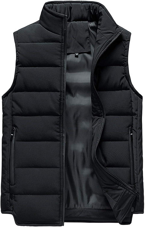 LYLY Vest Women Mens Vest Solid Autumn Warm Sleeveless Jacket Men Winter Casual Waistcoat Male Outwear Plus Size Vest Coats Vest Warm (Color : CC363 Black, Size : 4XL)