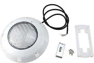 Luz de piscina - SODIAL(R)558 LED Submarina Luz de piscina Lampara de fuentes Luz de estanque RGB 5 Color con control remoto Blanco