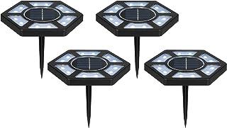 Staright 4 PCS Luzes de solo Iluminação de paisagem LED Luzes de solo solares Luzes de disco LED Luzes de jardim para páti...