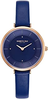 Kenneth Cole Women's Blue Dial Leather Band Watch - KC50306005