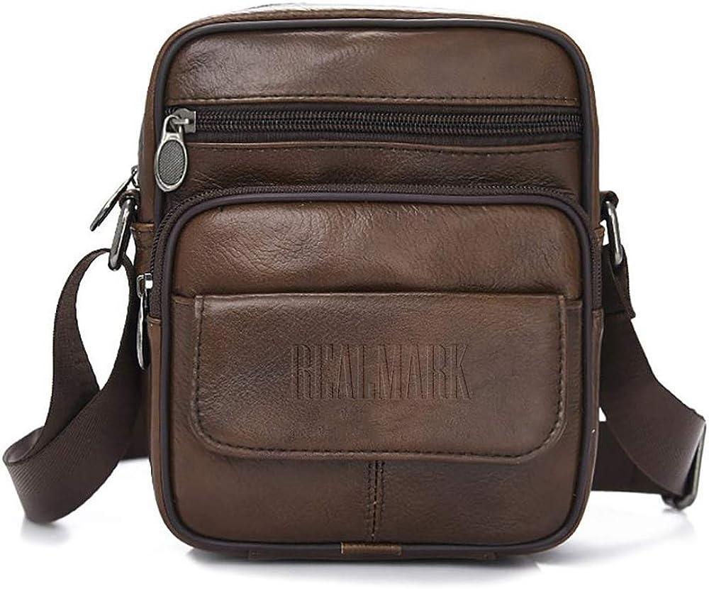 Realmark, borsello per uomo a tracolla, in vera  pelle Realmark038