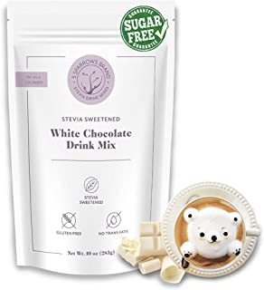 5 SPARROWS Sugar-Free White Chocolate Flavored Drink Mix, Sweetened with Stevia & Erythritol - No Sugar Coffee Creamer (Wh...