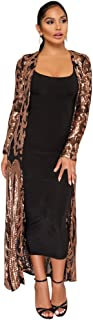 Women Totem Sequin Applique Long Sleeved Perspective Ankle Length Cardigan Cloak