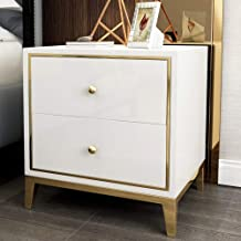 MEI XU Nightstand Bedside Table, Simple and Light Luxury Classic Color Paint Bedside Storage Storage Corner Table Full Cab...